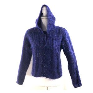 Carole Little Petites Mohair Sweater Hoodie SP